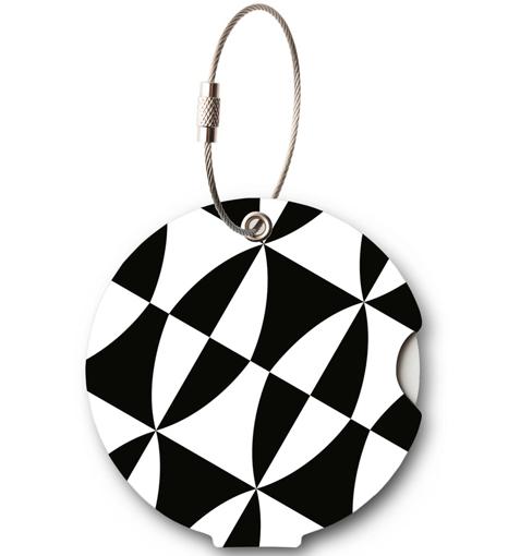 Obrázok z Jmenovka na kufr Addatag - Black and white