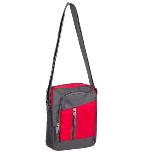 Obrázok z Taška přes rameno REAbags LL22 - šedá/červená - 4 L
